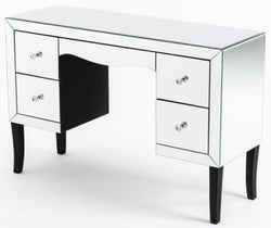 Venetian Mirrored Kneehole Dressing Table with Black Legs