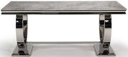Vida Living Arianna 180cm Grey Marble Dining Table
