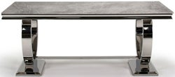 Vida Living Arianna 200cm Grey Marble Dining Table
