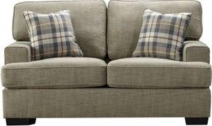 Vida Living Canterbury Beige Fabric 2 Seater Sofa