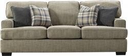 Vida Living Canterbury Beige Fabric 3 Seater Sofa