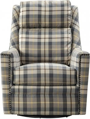 Vida Living Canterbury Oxford Check Fabric Swivel Chair