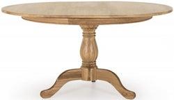 Vida Living Carmen Oak Oval Single Pedestal Dining Table