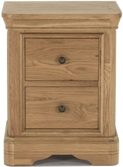 Vida Living Carmen Oak Bedside Cabinet