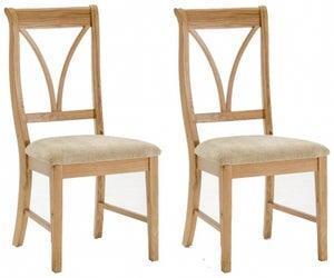 Vida Living Carmen Oak Dining Chair (Pair)