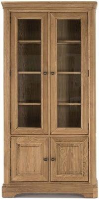 Vida Living Carmen Oak Display Cabinet