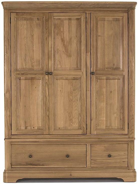 Vida Living Carmen Oak 3 Door Wardrobe