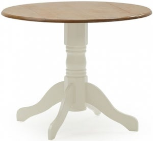 Vida Living Brecon 90cm Buttermilk Round Single Pedestal Dining Table