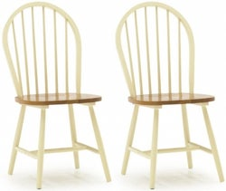 Vida Living Windsor Spindle Back Buttermilk Dining Chair (Pair)