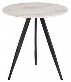 Vida Living Circe White Marble Effect Lamp Table