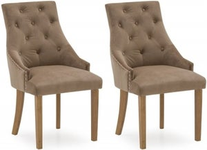 Clearance - Vida Living Hobbs Cedar Velvet Dining Chair (Pair) - New - E-647