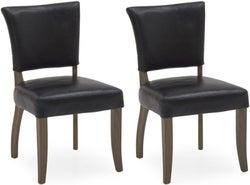 Vida Living Duke Ink Blue Leather Dining Chair (Pair)