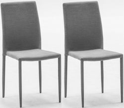 Vida Living Enzo Dark Grey Fabric Dining Chair (Pair)