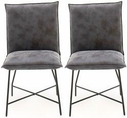 Vida Living Lukas Grey Fabric Dining Chair (Pair)