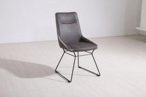 Vida Living Mirko Grey Fabric Dining Chair (Pair)