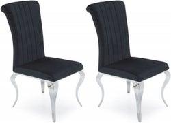 Vida Living Nicole Black Fabric Dining Chair (Pair)