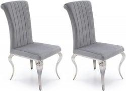 Vida Living Nicole Silver Fabric Dining Chair (Pair)