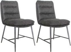 Vida Living Romy Hickory Fabric Dining Chair (Pair)