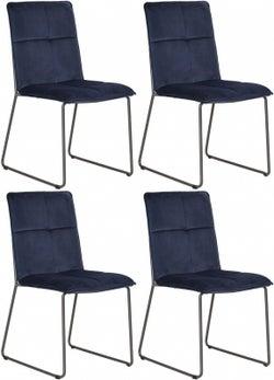 Vida Living Soren Blue Velvet Dining Chair (Set of 4)