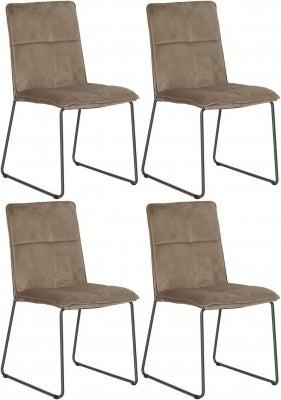 Vida Living Soren Mink Velvet Dining Chair (Set of 4)