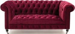 Vida Living Darby Berry Velvet 2 Seater Sofa