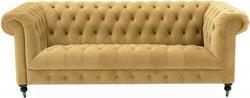 Vida Living Darby Mustard Velvet 3 Seater Sofa