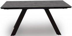Vida Living Flavia 160cm-240cm Grey Glazed Glass Top Extending Dining Table