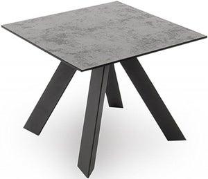 Vida Living Flavia Grey Glazed Glass Top Side Table