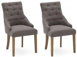 Vida Living Hobbs Grey Fabric Dining Chair (Pair)
