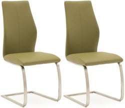 Vida Living Irma Olive Faux Leather Dining Chair (Pair)
