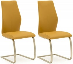 Vida Living Irma Pumpkin Faux Leather Dining Chair (Pair)