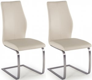 Vida Living Irma Taupe Faux Leather Dining Chair (Pair)