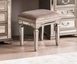 Vida Living Jessica Champagne Mirrored Dressing Table Stool