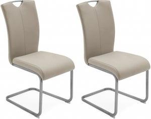 Vida Living Lazzaro Taupe Dining Chair (Pair)