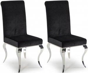 Vida Living Louis Black Fabric Dining Chair (Pair)