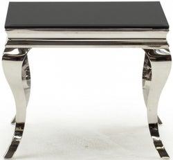 Vida Living Louis Black Glass End Table