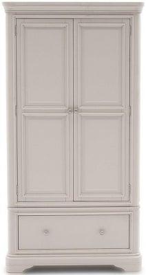 Vida Living Mabel Taupe Painted 2 Door Wardrobe