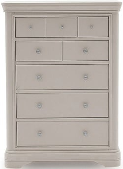 Vida Living Mabel Taupe Painted 8 Drawer Tall Chest