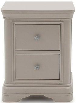 Vida Living Mabel Taupe Painted Bedside Cabinet