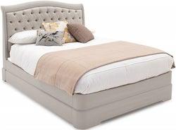 Vida Living Mabel Taupe Upholstered Bed