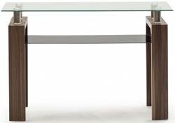 Vida Living Maya Console Table - Glass and Walnut