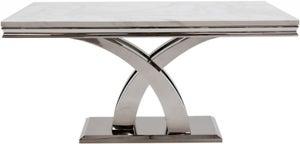 Vida Living Ottavia 180cm Bone White Marble Dining Table