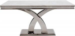 Vida Living Ottavia 200cm Bone White Marble Dining Table