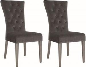 Vida Living Pembroke Charcoal Velvet Dining Chair (Pair)