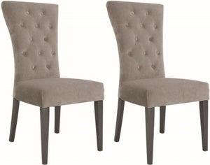 Vida Living Pembroke Taupe Velvet Dining Chair (Pair)