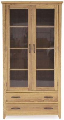 Vida Living Ramore Oak Display Cabinet