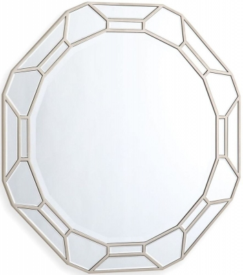 Vida Living Rosa Geometric Round Mirror