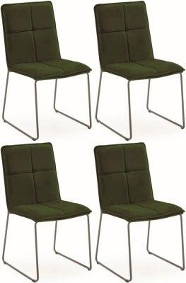 Vida Living Soren Green Velvet Dining Chair (Set of 4)