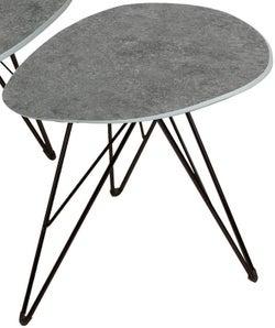 Vida Living Otto Dark Grey Concrete End Table