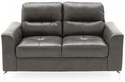 Vida Living Tanaro Grey Leathaire 2 Seater Sofa